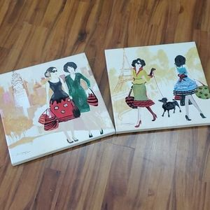 GUC Shopping in Paris Canvas Set of 2
